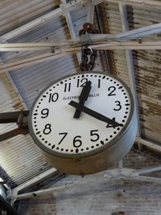 Vintage Rail station clock