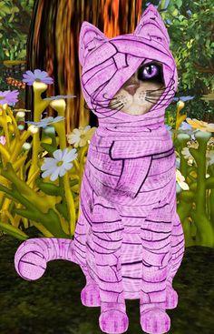 ♀ Nesitanebetashrua ----------------------------  Fur: Mummy Mia! - Putrid Purple Eyes: Purple Crystal (Shape: Curious   Pupil: Small) Shade: Flair Tail: Curious Ears: Curious Whiskers: Black (Shape: Curious) Size: 44 cm  (17.3 inch)