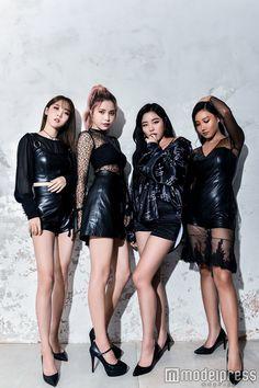 moonbyul, solar, wheein and hwasa in japan for modelpress ( mamamoo ) Kpop Girl Groups, Korean Girl Groups, Kpop Girls, Wheein Mamamoo, Solar Mamamoo, Foto Jimin, Soyeon, K Idols, South Korean Girls