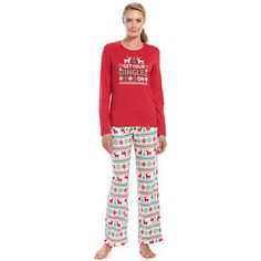 daf4b145c9 Jammies For Your Families 2-pc. Holiday Pajama Set - Women s Holiday Pajamas