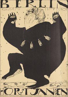 Plakat zur Ausstellung Horst Janssen - Gesamtwerk, Berlin 1966 Horst Janssen