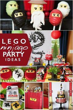 These Lego Ninjago Birthday Party ideas are wonderfully inspired.