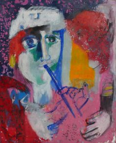 Flute Player.  by Bernard Lorjou.  French expressionist of the 20th C.  Never saw his work until this morning.