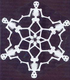 halloween snowflake template