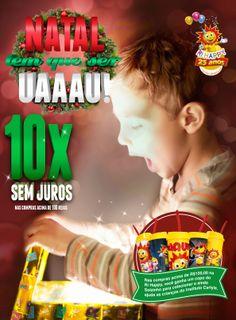 Na Ri Happy você pode comprar o presente do seu filho e dividir em até 10x sem juros!