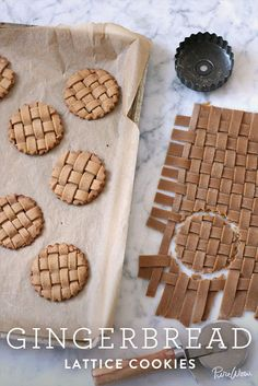gingerbread lattice cookies - weave the dough! - gingerbread lattice cookies – weave the dough! gingerbread lattice cookies – weave the dough! Ginger Bread Cookies Recipe, Cookie Recipes, Dessert Recipes, Almond Cookies, Dessert Food, Chocolate Cookies, Cupcake Recipes, Dessert Table, Sugar Cookies