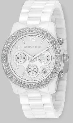 Women's Watches : Michael Kors Stainless Steel Ceramic Chronograph Bracelet Watch - #Watches https://talkfashion.net/acceseroris/watches/womens-watches-michael-kors-stainless-steel-ceramic-chronograph-bracelet-watch-2/