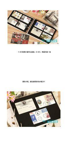 Keo-loại album album handmade sáng tạo phong cách Tự làm _ Việc dán kiểu album 4 - Alibaba