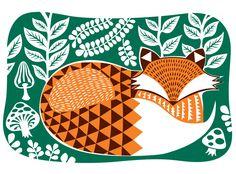 I Love My Fox Art Print | Beau Ideal