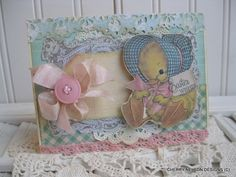 Easter card- Sweet baby duck with easter bonnet EASTER wishes handmade card