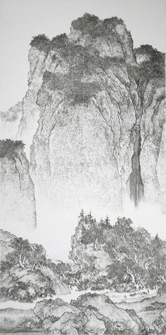Chen Chun-Hao makes traditional Chinese landscape paintings… |