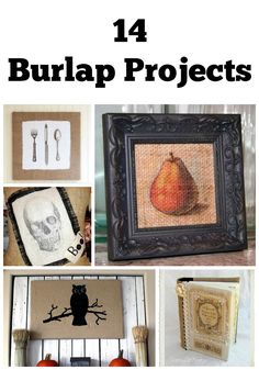 14 Burlap Craft and DIY Projects - The Graphics Fairy