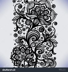 Abstract Seamless Lace Pattern With Flowers. Infinitely Wallpaper, Decoration For Your Design, Lingerie And Jewelry. Your Invitation Cards, Wallpaper, And More. Stock Vector Illustration 311907497 : Shutterstock