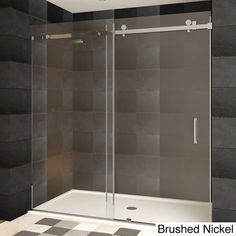 JACUZZI Erika 58.25-in to 58.75-in W x 76-in H Frameless Sliding Shower Door | rockwookmasterbath | Pinterest | Shower doors Jacuzzi and Bathtub doors & JACUZZI Erika 58.25-in to 58.75-in W x 76-in H Frameless Sliding ...
