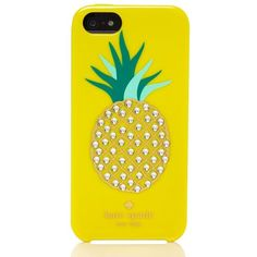 Kate Spade Embellished Pineapple Resin Iphone 5 Case ($36) ❤ liked on Polyvore featuring accessories, tech accessories, phone cases, phone, electronics, iphone and kate spade
