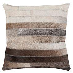 "Milan Hair on Hide Pillow 18"" | Pillows | Bedding and Pillows | Z Gallerie"