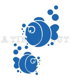 BUBBLE FISH Vinyl Decal * OCEAN * Coffee Mug * Yeti Cup * iPhone * Yeti Tumbler Decal * Glitter Decal * Lily * Car Decal * Window Decal by ATIMETOCUT on Etsy