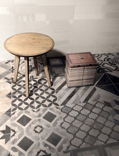Casablanca range | Mandarin Stone | Decorative hexagon and square format porcelain tiles in a range of beautiful and quirky designs including matching plain tiles to get creative with | www.mandarinstone.com