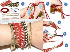 pulseras con cadenas!!