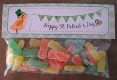 St. Patricks Day Printables – Candy Bar wrappers, Bag Toppers, Cupcake Toppers and more