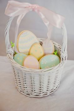 Pretty Easter egg decorated sugar cookies