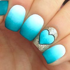 Do you love art? Do you like to play with colorful nail polish? If you are one of those people who always look for some stunning nail art techniques, like me, t | See more about heart nails, blue heart and blue nails.