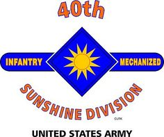 "40th Infantry Division "" Sunshine "" United States Army Shirt.  World War II  Pacific Campaigns:Bismarck Archipelago,Southern Philippines,Luzon.  (August 1945 Location: Negros, Philippines Islands)  (Killed In Action:614)  (Wounded In Action:2,407)  (Died Of Wounds:134)"