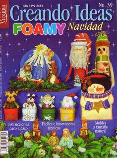 manualidades en foamy para navidad