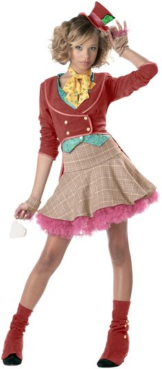 Host a tea party in this teen Mad Hatter costume dress! The girls Mad Hatter costume is just one of our Alice in Wonderland costumes for teens. Check out all of our teen storybook costumes. Mad Hatter Halloween Costume, Mad Hatter Costumes, Halloween City, Girl Halloween, Disney Halloween, Trendy Halloween, Halloween 2014, Halloween Parties, Women Halloween