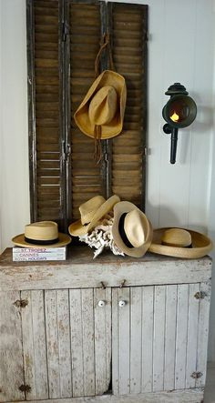 shutters for hanging hats!