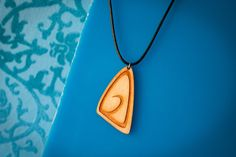 handmade necklace wooden beachy jewelry engraved laser cut pendant custom dyed gift idea for her casual style