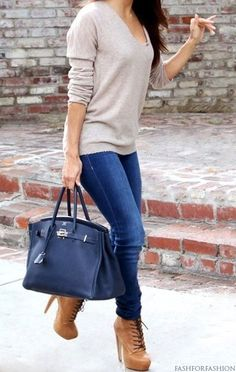 Neutral + heeled boots <3