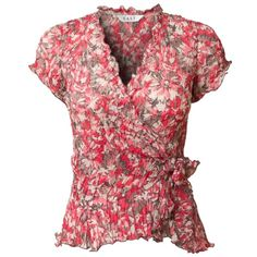 East Esmay Bubble Wrap Top, Nectar ($59) ❤ liked on Polyvore featuring tops, blouses, shirts, floral blouse, red shirt, red blouse, red bubble shirts and floral shirt