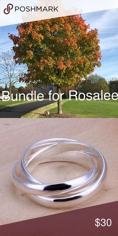 Bundle for Rosalee Bundle of 3 trinity 3 band rings:  one size 6, one size 7 and one size 8 Jewelry