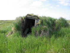 Sod House  Yukon Delta NWR  This photo was taken during a Ducks Unlimited vegetation survey.  Photo Credit: Fred Broerman