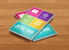Using Flat Design In Web And Print Projects Flat Design - Windows business card template