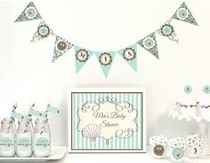 Personalized beach theme party decorations