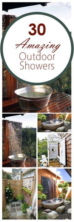 30 Amazing Outdoor Showers