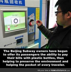 Using plastic bottles to pay