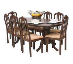 Características principales: Juego de comedor para 8 personas, modelo WELLINGTON , Commodity, mesa ovalada de madera, sillas de madera, estilo Clásico. Dimensiones: Mesa: Alto: 76.5 cm Largo: 197 cm Ancho: 96 cm Sillas: Alto: 99 cm Largo: 42 cm Ancho: 43 cm