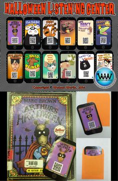 $6.50. Halloween Listening Center with QR codes and Hyperlinks! These Halloween themed iPhones with 12 stories can be enjoyed simply by scanning a QR Code! Such an easy, fun way to transform your listening centers! #QRCodes #ListeningCenter #HalloweenStories