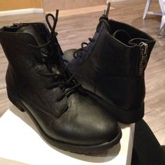 Style & co black ankle boots Style & co black lace up ankle boots. New, has a couple very minor scuffs. Comes in box Style & Co Shoes Ankle Boots & Booties