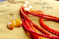 Articoli simili a SAUTOIRS - Yellow Orange Long Necklace - Colors Full - Necklace Earrings - Jewelry - Boho Long Necklace - Statement Necklace - Gift su Etsy Over 50 Womens Fashion, Fashion Over 50, Orange, Yellow, Color Show, Boho Jewelry, Boho Chic, Nice Dresses, Cool Outfits