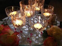Crystal and candles! wedding tablescapes