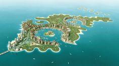 The Pearl-Qatar by development firm United Development Company. From 'The Pearl-Qatar: multi-billion dollar man-made island home' on Gizmag