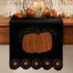 wool felt pumpkin table mat - Google Search