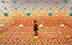 Nike Savvas' Atomic- Full of Art, Full of Wonder Suspended Balls Installation