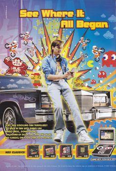 Ad for NES Classics range on Game Boy Advance Game Boy, Back In Time, 8 Bit, Gaming, Zelda, Range, Retro, Classic, Garlic