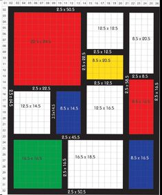 Mondrian Inspired Quilt Pattern –