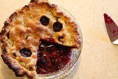 Blueberry blackberry pie with buttermilk pie crust.  My first pie ever.